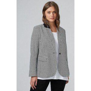 NWT Lane Bryant Houndstooth Plaid Blazer Jacket